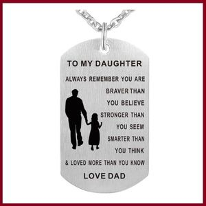 Father/Daughter Stainless Steel Necklace